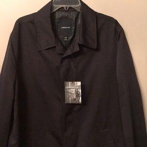 💥New! London Fog men's black raincoat.